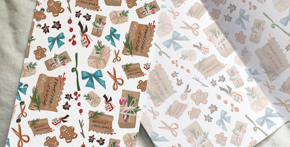 Christmas Mood Table Planner Inserts