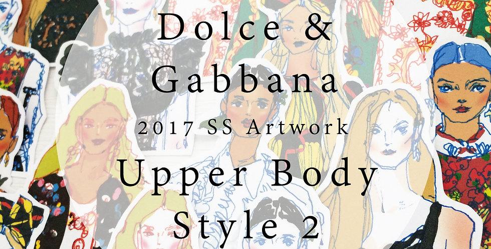 2017 Dolce and Gabbana Style Fashion Girl (Upper body Set 002)