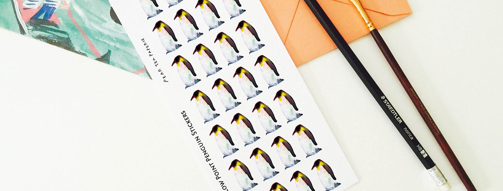 Yellow Point Penguin Stickers