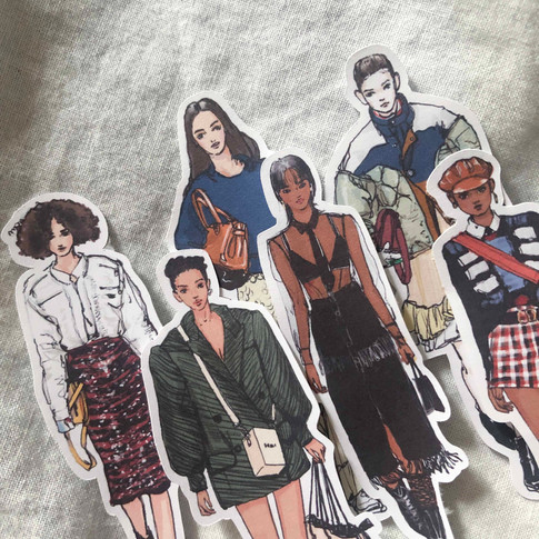 Approx. 3.5 Inches Tall / Die cut stickers