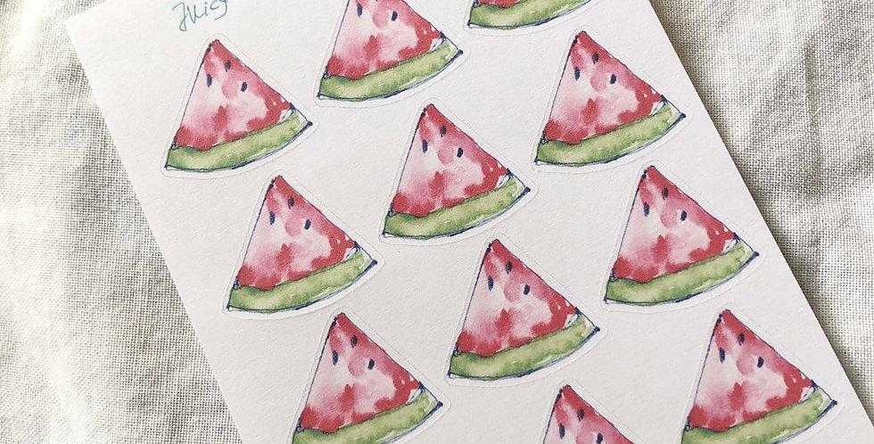 Juicy Watermelon Stickers