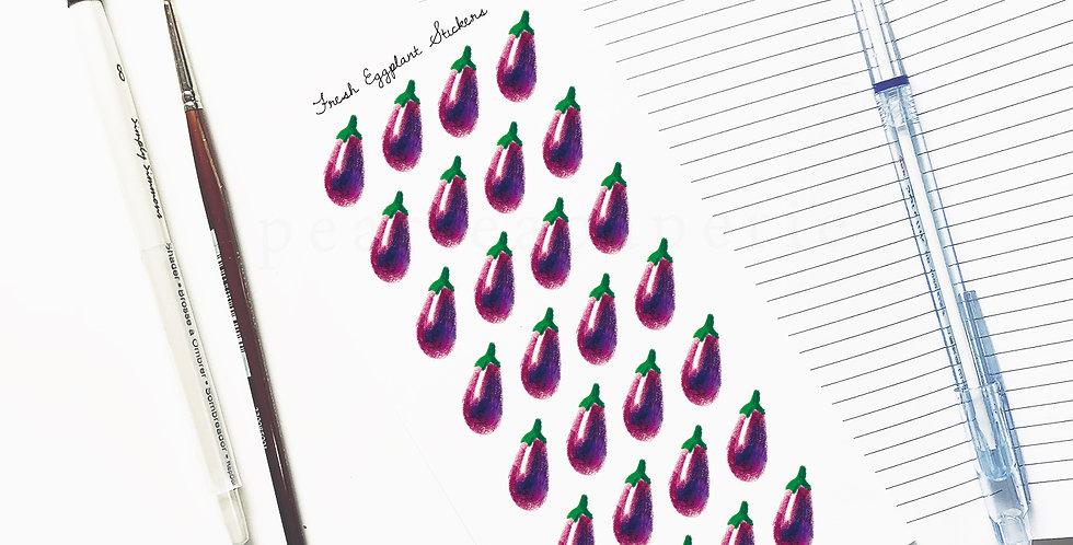 Fresh Eggplant stickers