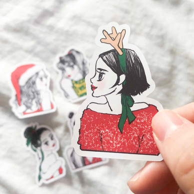 Approx. 2.5 Inches Tall / Die cut stickers