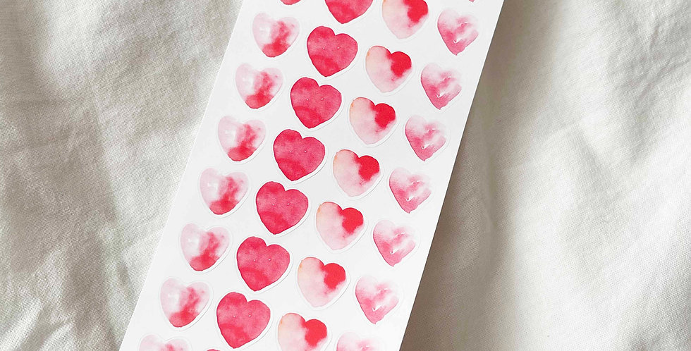 Heart Watercolor Stickers