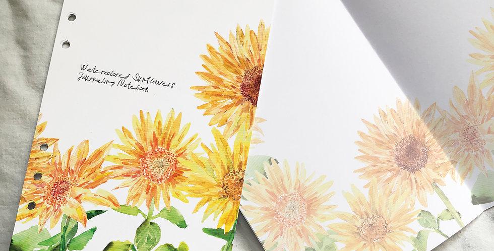 Watercolored Sunflowers Journaling Notebook 1