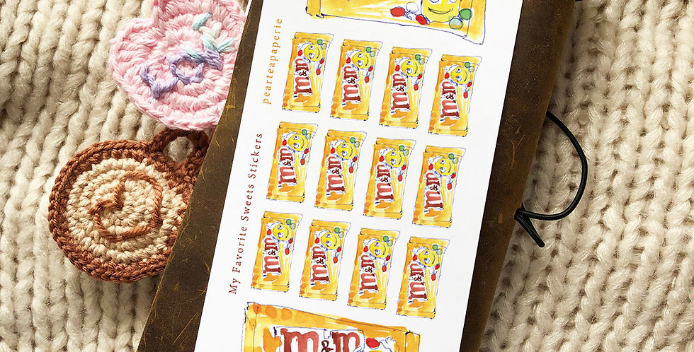 M&M Watercolor Art Stickers