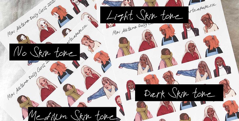Mini Autumn Dolly Girls 2020 Stickers - Upper Body