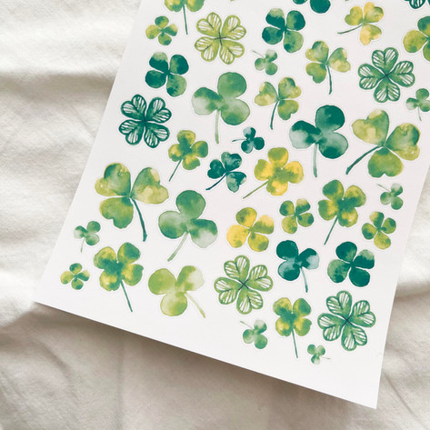Lucky Clovers Stickers