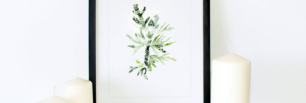 Fern Green Watercolor Poster