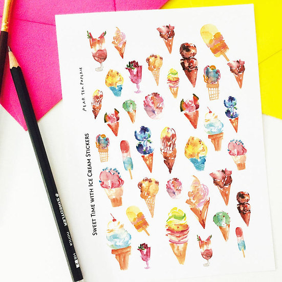 Sweet Time with Ice Cream Stickers