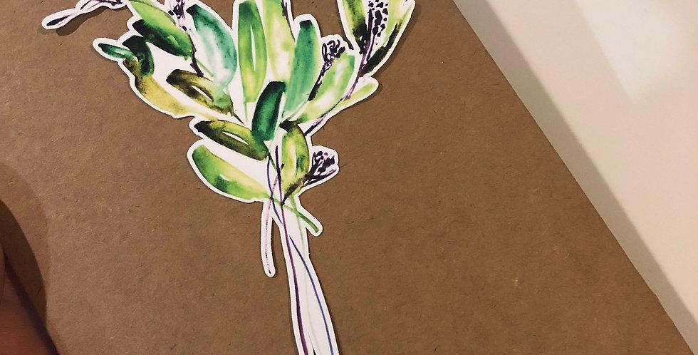 Winter Mood Branches Die cut Sticker