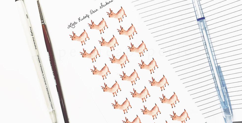 Little Rudolf Deer stickers
