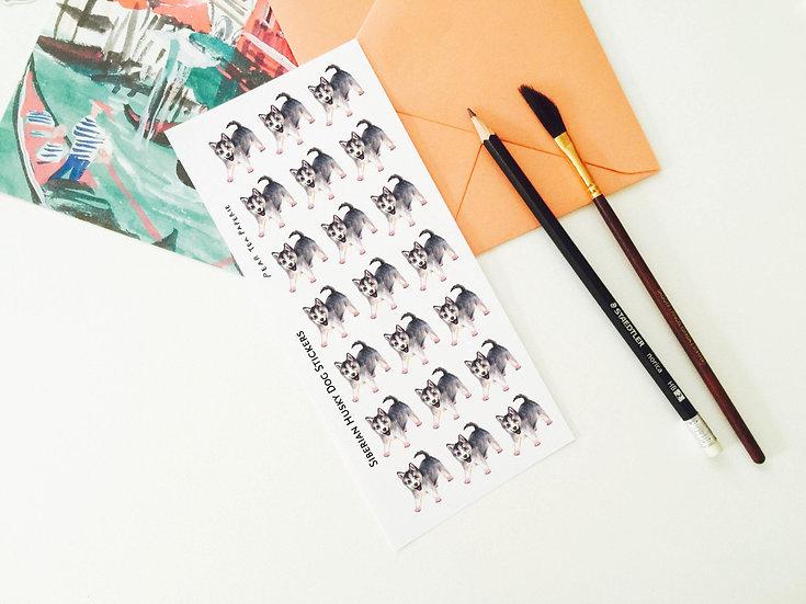 Cute Siberian Husky Stickers