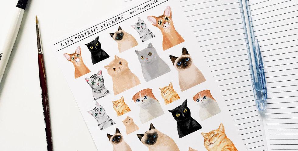 Cats Portrait Stickers