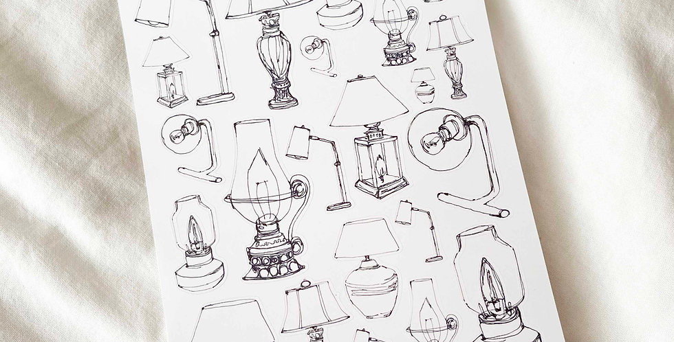 Chic Table Lamps Stickers