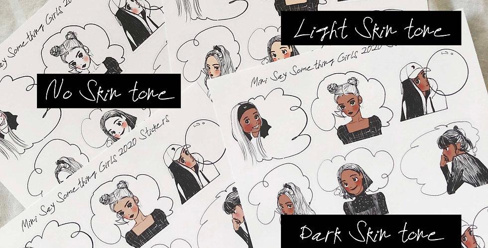Mini Say Something Girls 2020 Stickers