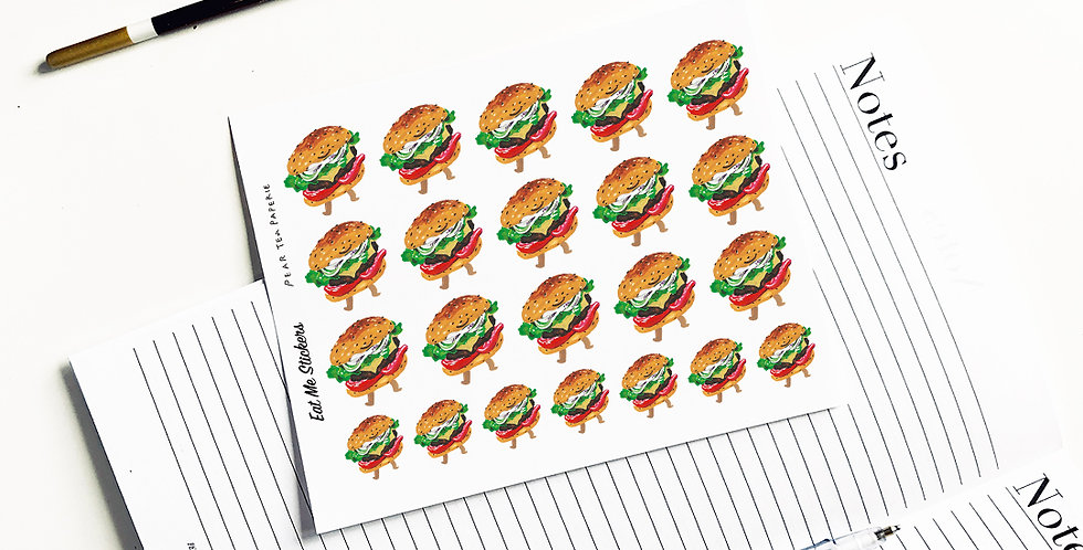Eat me hamburger stickers