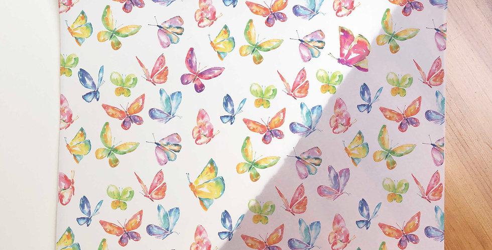 Butterfly Pattern Vellum Paper (Folded)