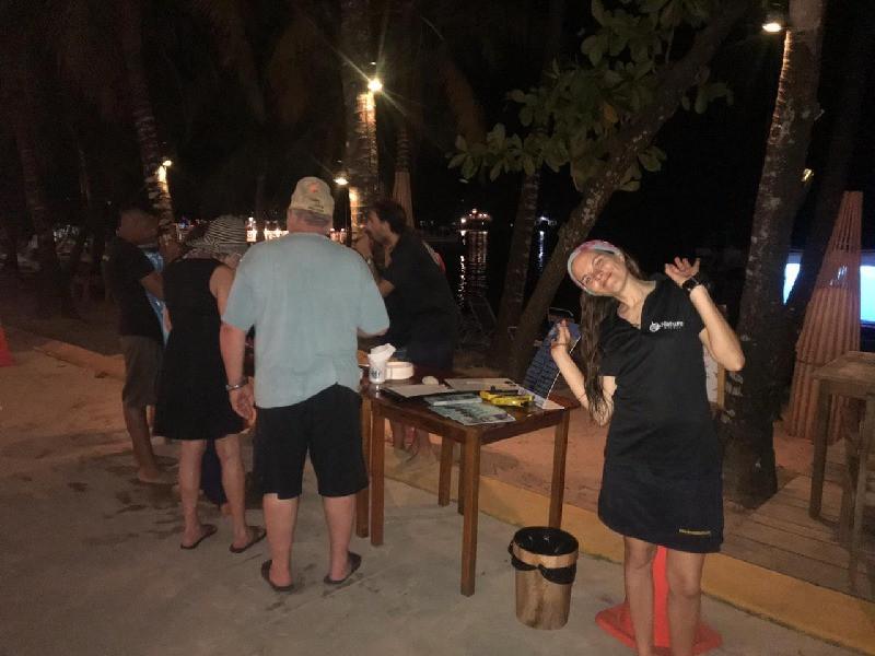 Open Bar at Nature Night, Roatan