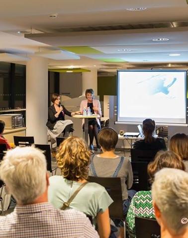 Conférence en compagnie de Cécile Desnouhes et de l'association Hope Team East qui aide les personnes touchées par un cancer à mieux vivre l'épreuve via le sport