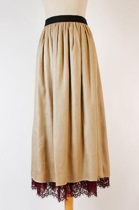 カッセンサテン×レースリバーシブルスカート