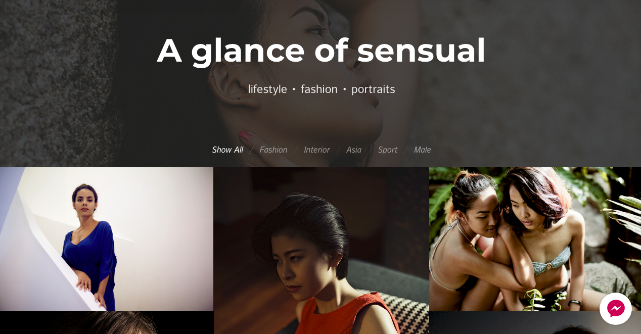 A glance of sensual
