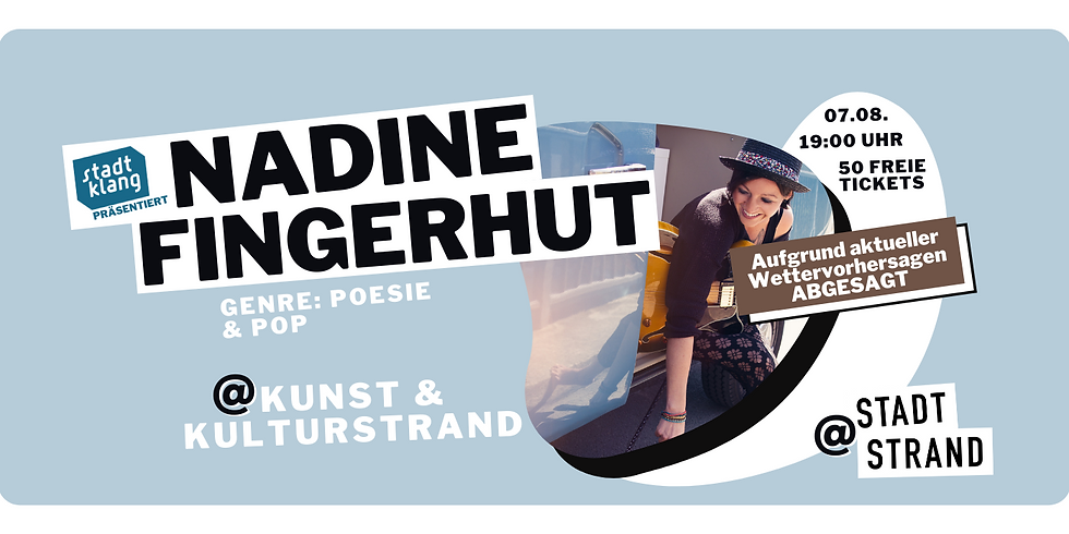 NADINE FINGERHUT         Live @ Kunst- und Kulturstrand Düsseldorf