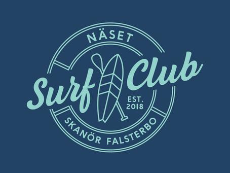 Näset Surf Club klubbar grafisk profil