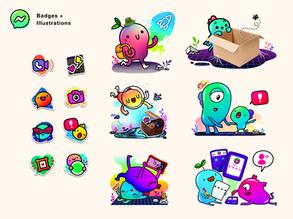 Badges + Illustrations