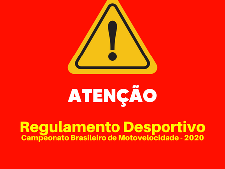 Regulamento Desportivo do Campeonato Brasileiro de Motovelocidade 2020