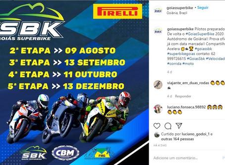 Goiás Superbike retoma temporada em 9 de agosto; veja o calendário