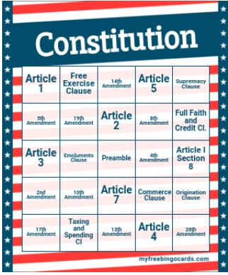 Bingo classroom Game