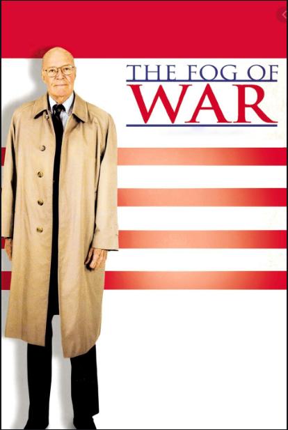 The Fog of War cover photo of Secretary McNamara