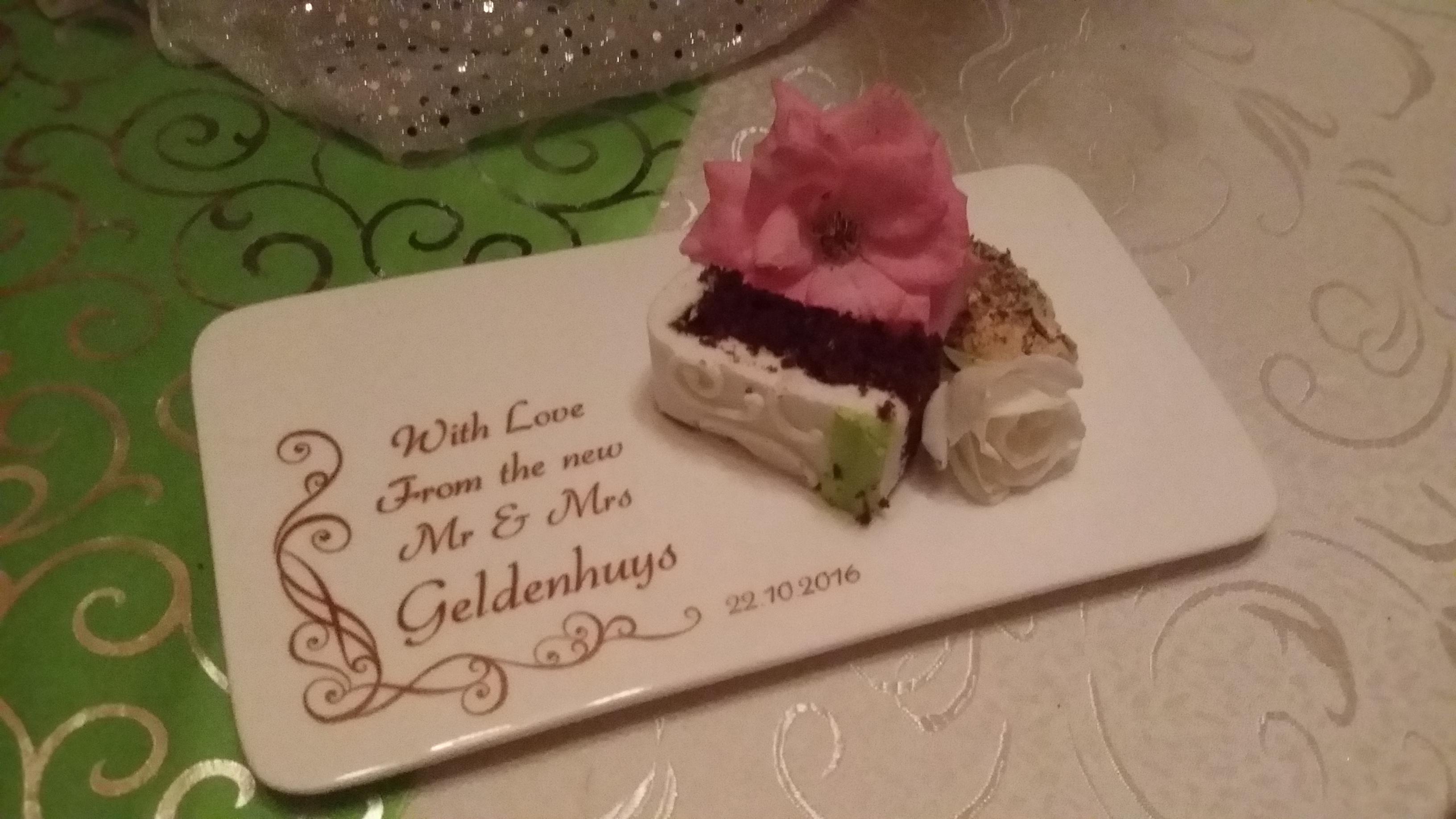 Wedding dessert plate