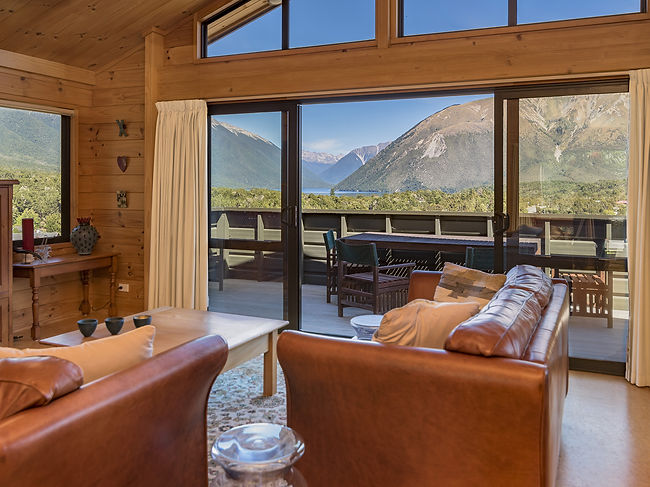 Mountain and Lake views from lounge