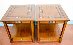 3 Pair Wood End Tables