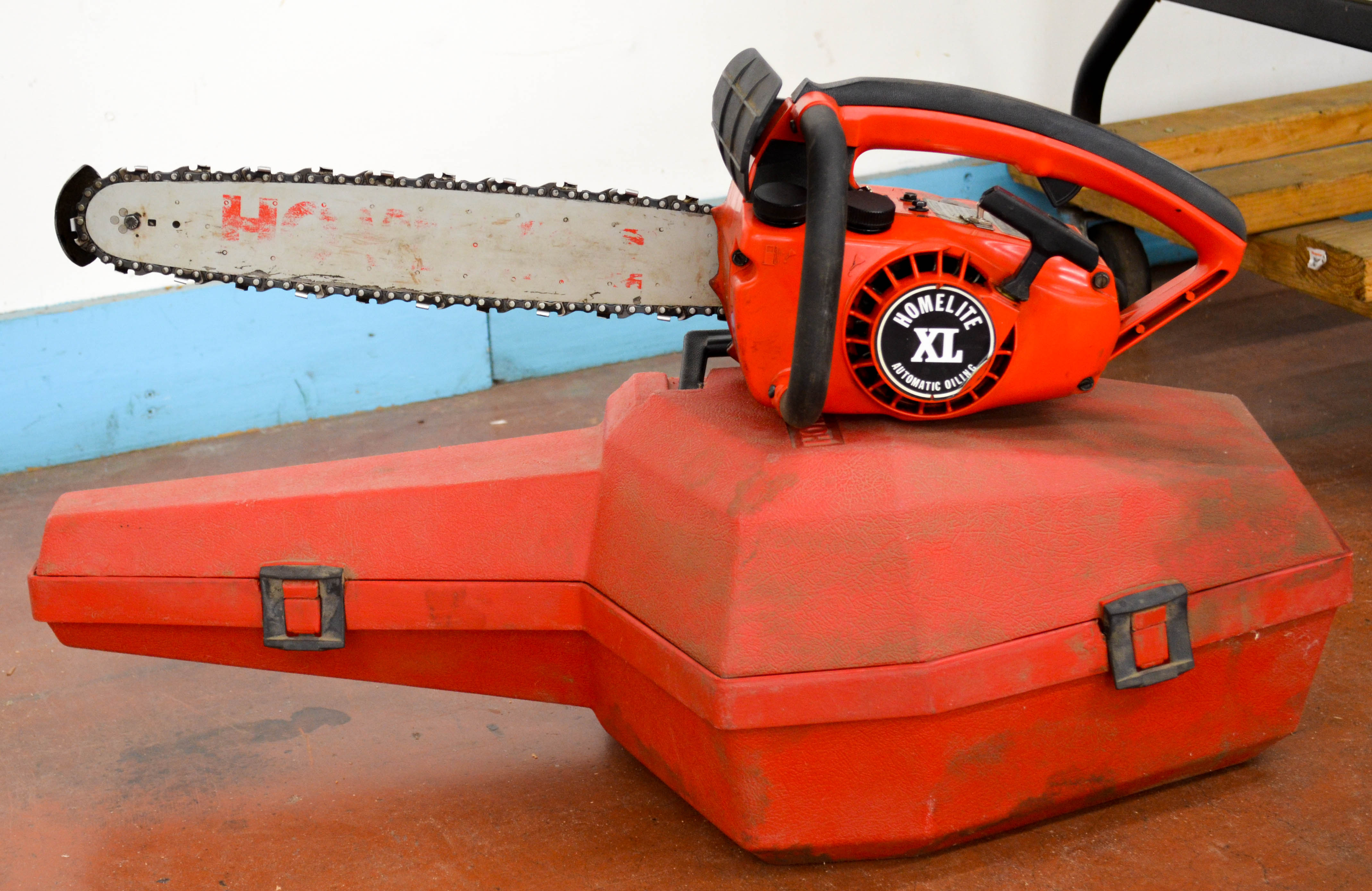 51 Homelite XL Chainsaw with Case
