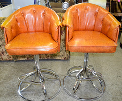 123 Orange Stool Chairs