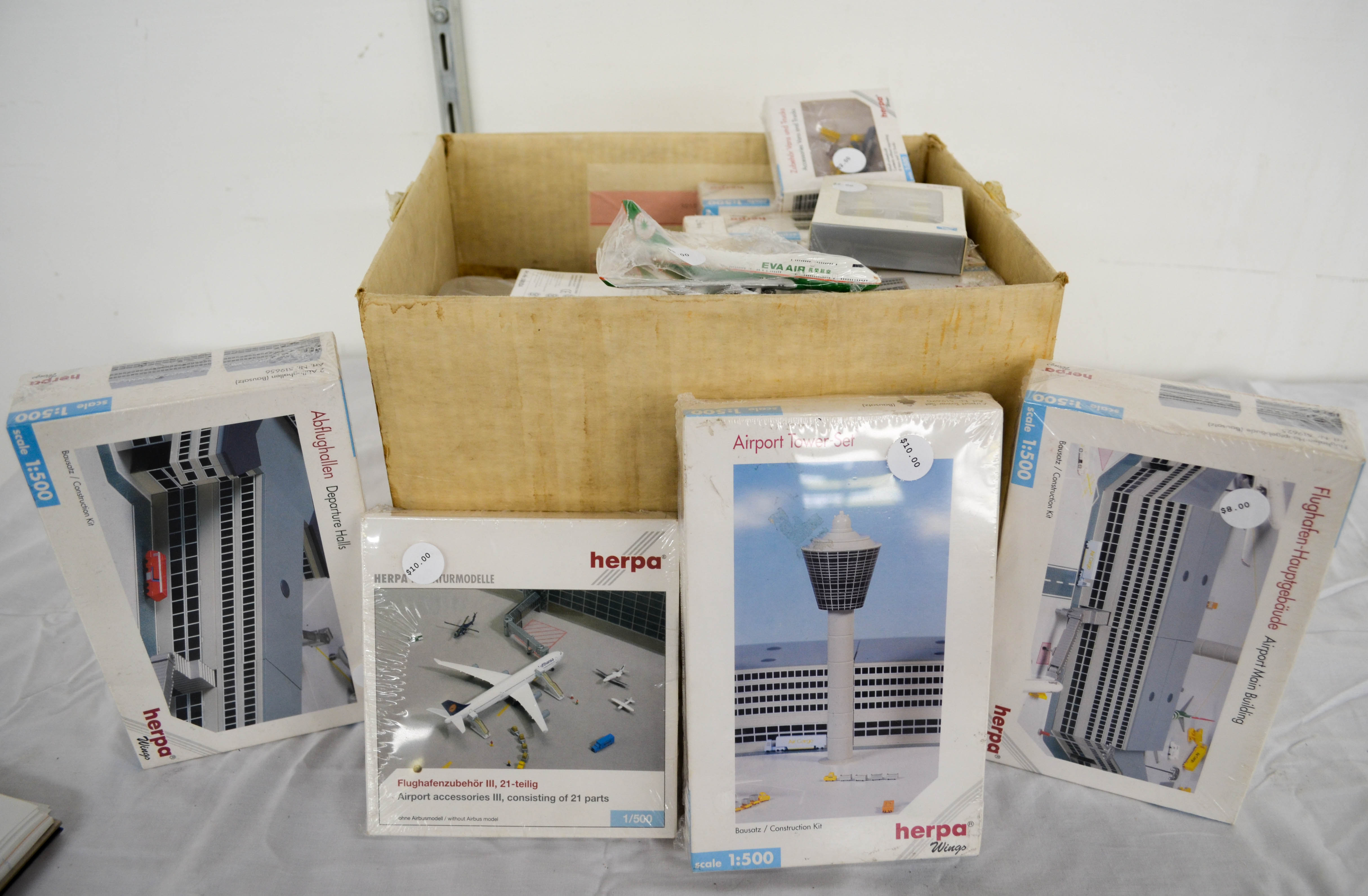147 Airplane Model Box Lot