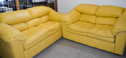 116 Yellow Couch and Love Seat Set