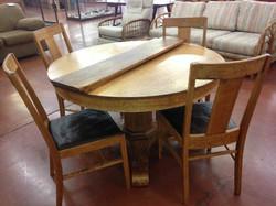 129 Antique Oak Dining Table