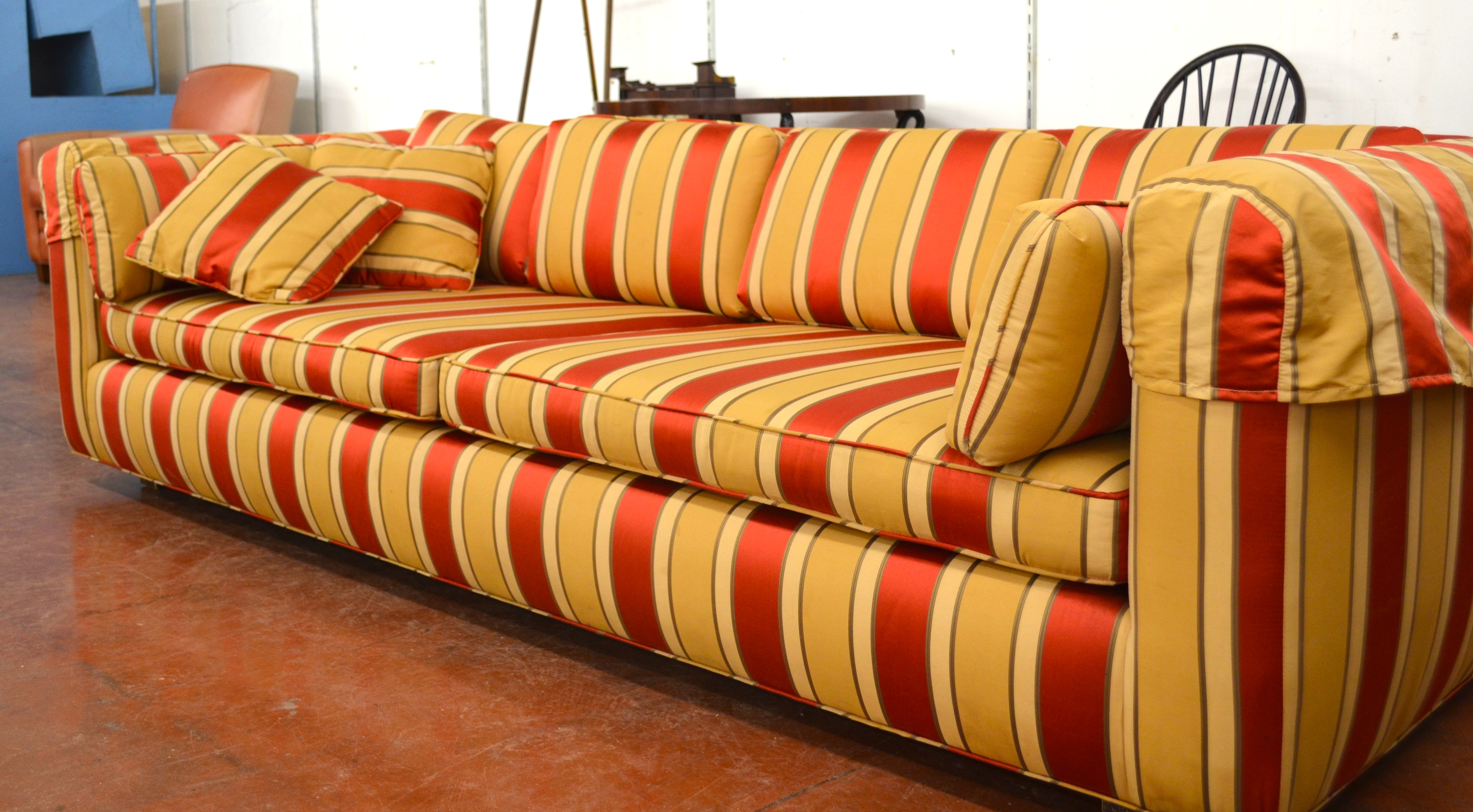 15 Red-Tan Couch