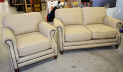 122 Tan Couch and Chair