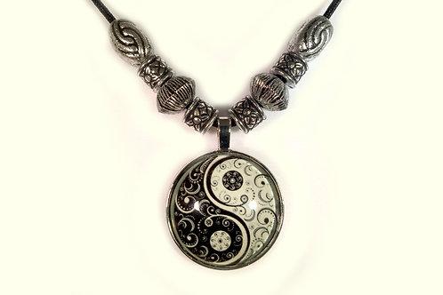 Glow in the dark Yin Yang Pendent