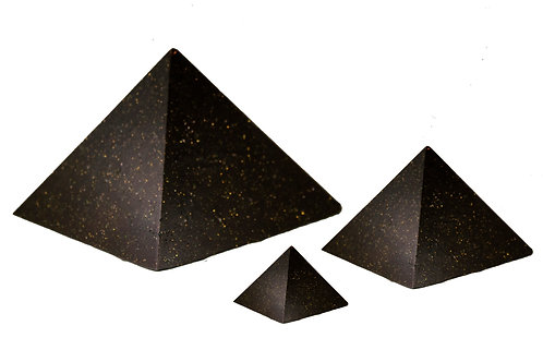 3 Pack (Small, Medium & Large) Black Universe Pyramids