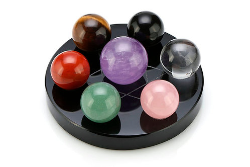 Crystal Sphere Chakra Set