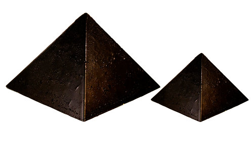 2 Pack (Medium & Large) Black Sun Pyramids
