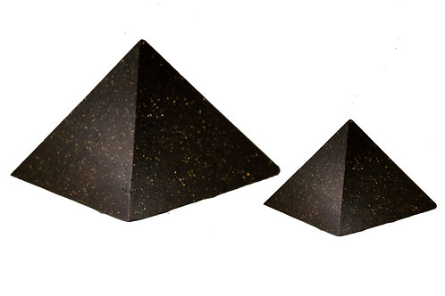 2 Pack (Medium & Large) Black Universe Pyramids