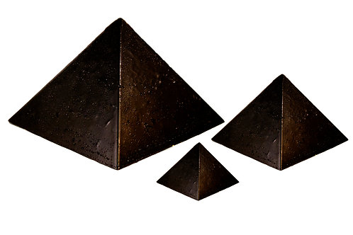 3 Pack (Small, Medium & Large) Black Sun Pyramids