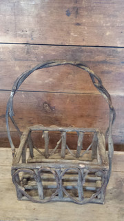 Heart twig basket